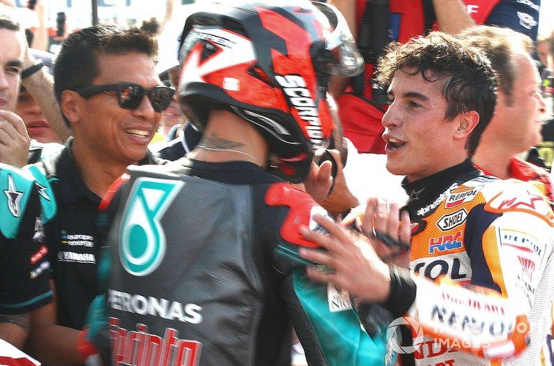 Fabio Quartararo, Petronas Yamaha SRT, Marc Márquez, Repsol Honda Team