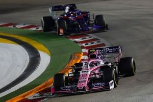 Lance Stroll, Racing Point RP19, leads Daniil Kvyat, Toro Rosso STR14