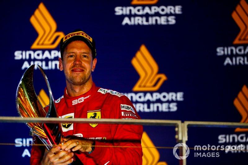 5º Sebastian Vettel: 240 pontos, 1 vitória, 9 pódios, 2 poles, 2 voltas mais rápidas e 160 voltas lideradas