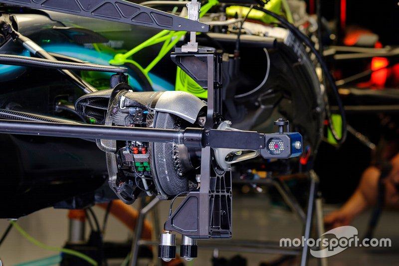 Mercedes AMG F1 W10 front brake detail