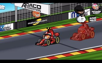 El duelo Leclerc vs Hamilton en Spa, por MiniDrivers