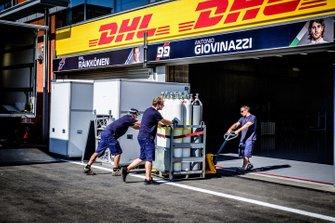 Garage dell'Alfa Romeo Racing