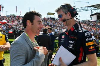 Indy 500 winner Simon Pagenaud on the grid