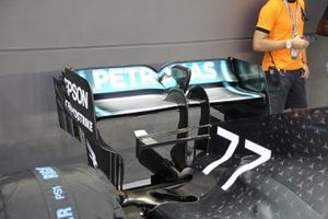 Alerón trasero del Mercedes AMG F1 W10