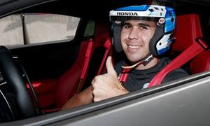 Robert Wickens sits in Acura Car at Toronto IndyCar pre-race