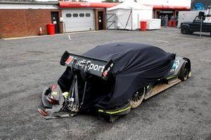 Pietro Fittipaldi, Audi Sport Team WRT, Audi RS 5 DTM after the crash