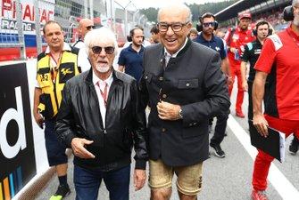 Bernie Ecclestone con Carmelo Carmelo Ezpeleta, CEO de Dorna Sports