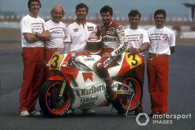 Fiorenzo Fanali, Kel Carruthers, Giacomo Agostini, Eddie Lawson