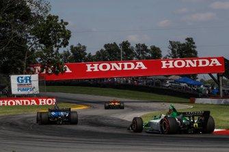 Graham Rahal, Rahal Letterman Lanigan Racing Honda, Colton Herta, Harding Steinbrenner Racing Honda