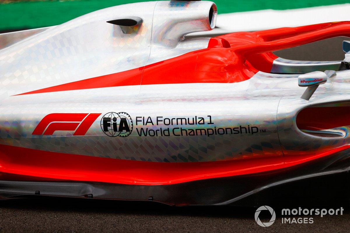 Detalle del Sidepod del coche de Fórmula 1 2022