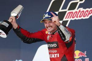 Podium: Race winner Jack Miller, Ducati Team