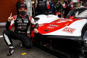 LMP2 Pole sitter #7 Toyota Gazoo Racing Toyota GR010 - Hybrid: Kamui Kobayashi