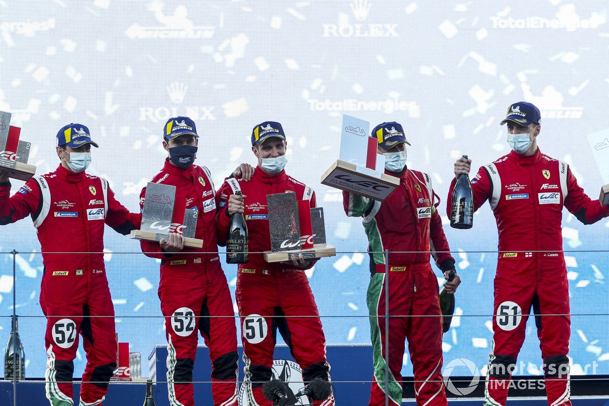 #52 AF Corse Ferrari 488 GTE EVO: Daniel Serra, Miguel Molina and #51 AF Corse Ferrari 488 GTE EVO: Alessandro Pier Guidi, James Calado
