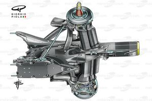 Red Bull Racing RB16B gearbox suspension