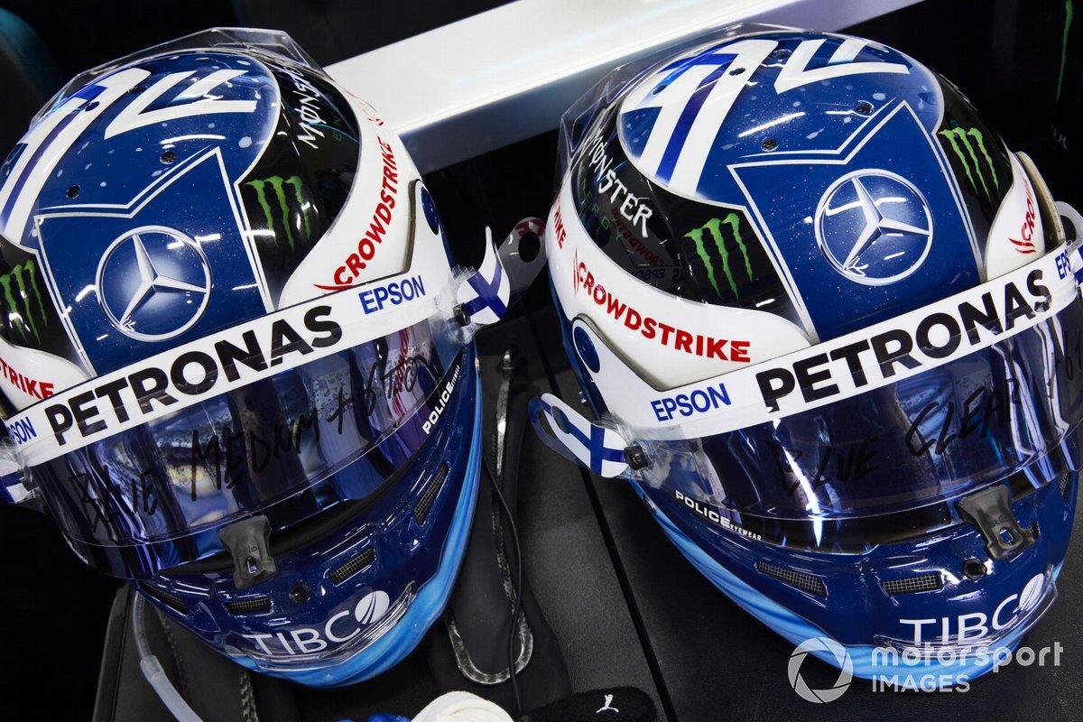 Cascos de Valtteri Bottas, Mercedes