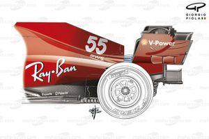 Ferrari SF21 oude vloer