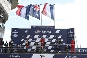 Podium: race winner Jack Miller, Ducati Team, second place Johann Zarco, Pramac Racing, third place Fabio Quartararo, Yamaha Factory Racing