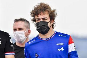 Фернандо Алонсо, Alpine F1, прогулка по трассе