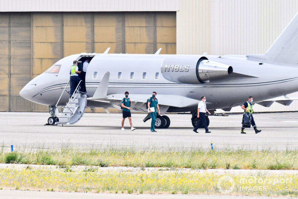 Lance Stroll, Aston Martin, deja su avión Bombardier Challenger 600-2B16