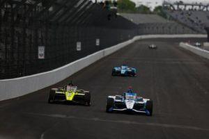 Ed Jones, Dale Coyne Racing avec Vasser Sullivan Honda, Sage Karam, Dreyer & Reinbold Racing Chevrolet