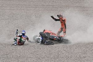 Danilo Petrucci, KTM Tech3, Alex Marquez, Team LCR Honda crash