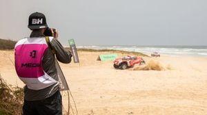 Charly López, fotografo di Motorsport Images, all'Ocean X-Prix