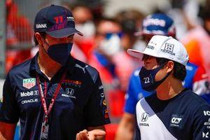 Sergio Perez, Red Bull Racing en Yuki Tsunoda, AlphaTauri