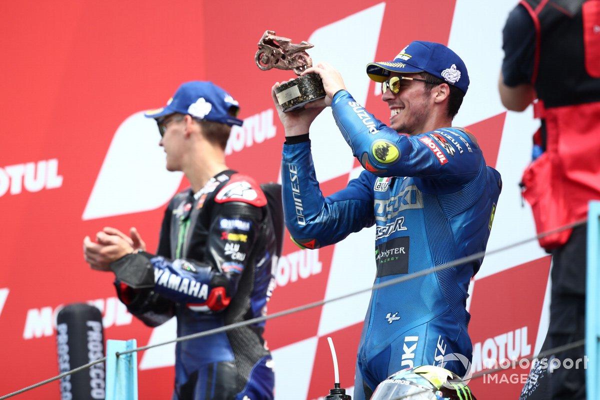 Podio: tercer puesto Joan Mir, Team Suzuki MotoGP