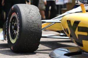 Josef Newgarden, Team Penske Chevrolet tyre detail