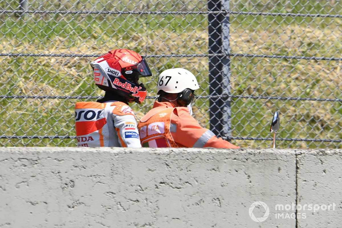 Marc Marquez, Repsol Honda Team, tras su caída