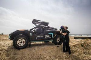 Molly Taylor, Johan Kristoffersson, Rosberg X Racing, célèbrent leur victoire