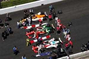 Santino Ferrucci, Rahal Letterman Lanigan Racing Honda, Felix Rosenqvist, Arrow McLaren SP Chevrolet, JR Hildebrand, A.J. Foyt Enterprises Chevrolet