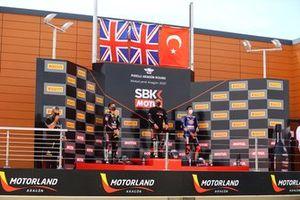Alex Lowes, Kawasaki Racing Team WorldSBK, Jonathan Rea, Kawasaki Racing Team WorldSBK, Toprak Razgatlioglu, PATA Yamaha WorldSBK Team