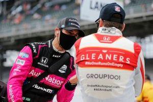Helio Castroneves, Meyer Shank Racing Honda, Marco Andretti, Andretti Herta-Haupert w/Marco & Curb-Agajanian Honda