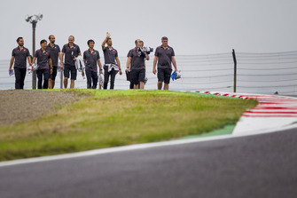 Romain Grosjean, Haas F1 Team on track walk