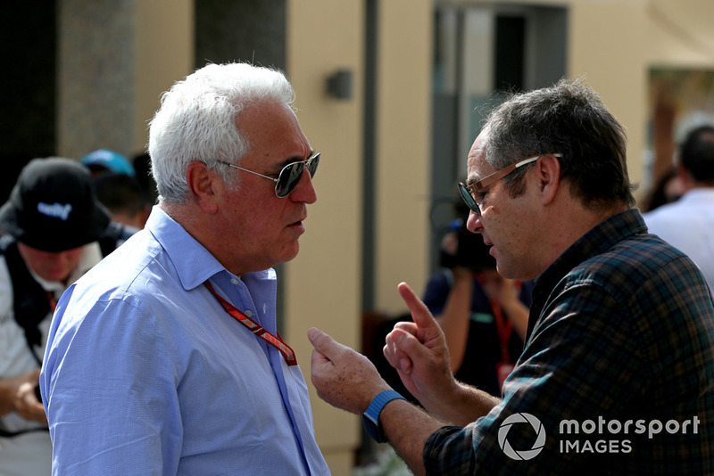 Lawrence Stroll, Racing Point Force India F1 Team Owner and Gerhard Berger