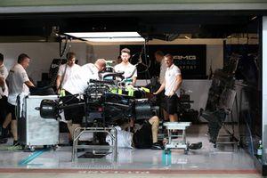 Mercedes-AMG F1 W09 EQ Power+ in the garage