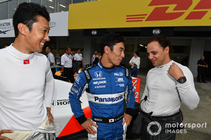 Kazuki Nakajima, Takuma Sato és Felipe Massa