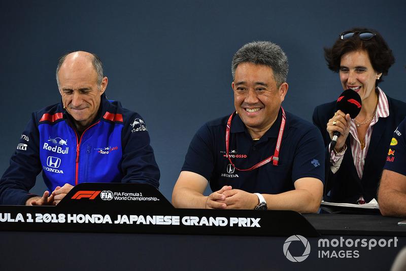 Franz Tost, Scuderia Toro Rosso Team Principal, Masashi Yamamoto, General Manager, Honda Motorsport
