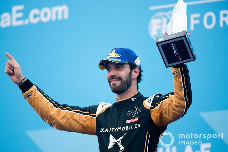 Jean-Eric Vergne, DS TECHEETAH celebrates second position on the podium