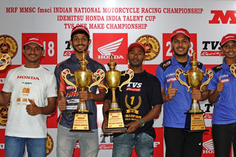 National Champions: Anish Shetty (Pro-Stock 165cc), Satyanarayana Raju (Pro-Stock 301-400cc), Jagan Kumar (Super Sport 165cc), Karthik Mateti (Stock 165cc) and Ann Jennifer (Girls)