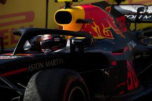 Max Verstappen, Red Bull Racing RB14, 2° classificato, arriva nel parco chiuso