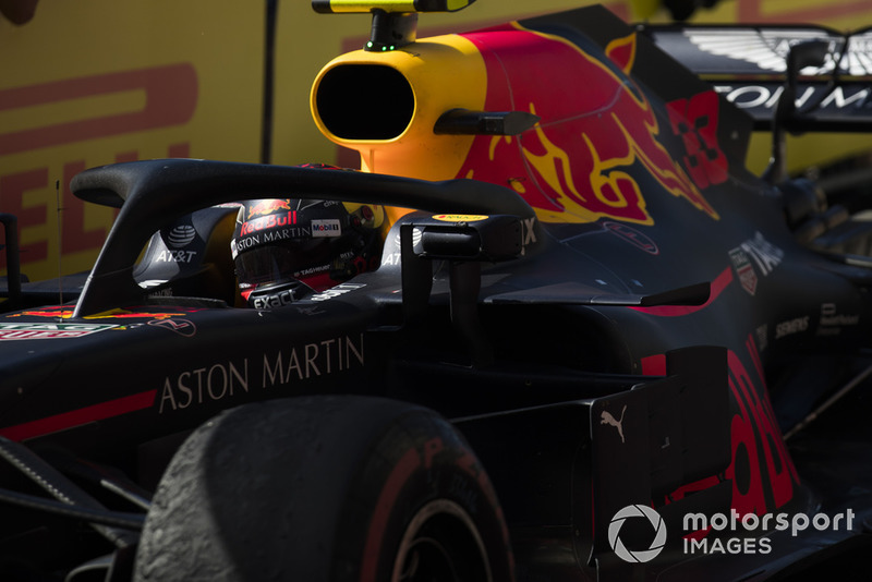 Max Verstappen, Red Bull Racing RB14, 2nd position, arrives in Parc Ferme
