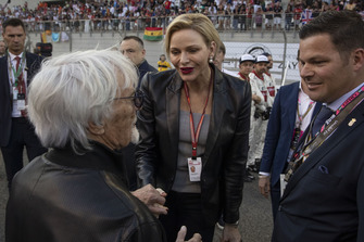 Princess Charlene of Monaco, Charlene Wittstock on the grid with Bernie Ecclestone
