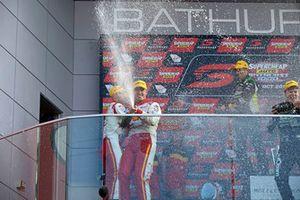 Podium: third place Scott McLaughlin, DJR Team Penske celebrates