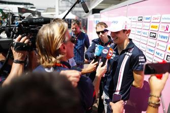 Esteban Ocon, Force India, is interviewed