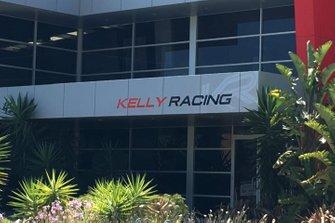Nissan Motorsport factory in Melbourne with Kelly Racing branding