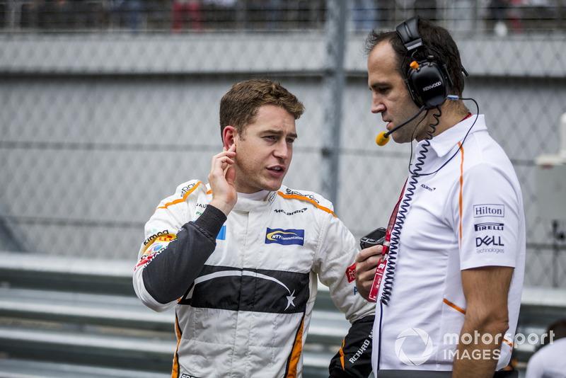 Stoffel Vandoorne, McLaren, in griglia di partenza