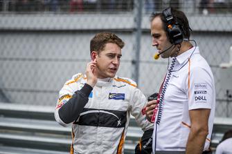 Stoffel Vandoorne, McLaren on the grid