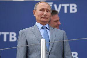 Vladimir Putin, President of Russia on the podium